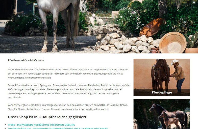Online-Shop mi-caballo.com